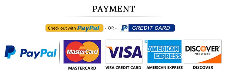 We accept the following payment PayPal, MasterCard, Visa Credit Card, American Express, Discover methods